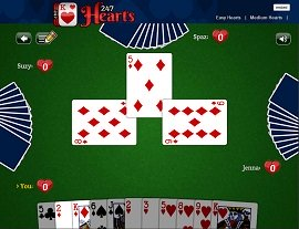 play hearts online against people