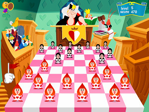 Freeware Checkers - Alice in Wonderland Checkers Game