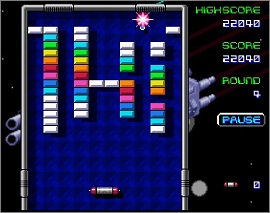 arkanoid online game