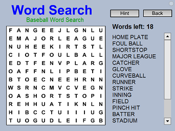 photograph regarding Large Print Word Search Printable known as Baseball Phrase Appear - Cost-free Intellect Sport