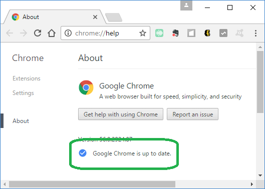 chrome updated