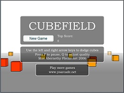 play cubefield full screen