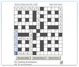 Daily Crossword On This Printable Puzzle Is A Great Workout For Your