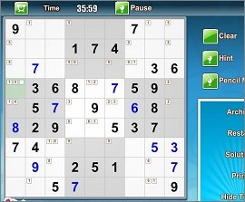 daily sudoku online