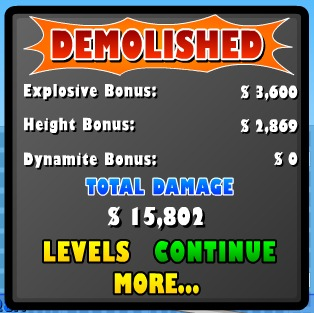 Demolition City - demo totals