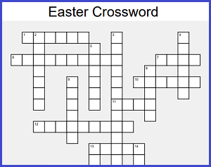 Free Easter Crossword Puzzle