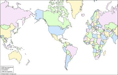 picture relating to Printable Labeled World Map named Cost-free Printable Entire world Map