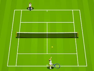 how to play tennis game