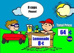 Lemonade Larry - Lemonade Stand Math Game