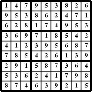 Image Result For Sudoku Solutions