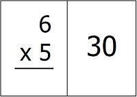 Multiplication flash card example