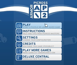 picross nonograms menu