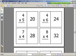 photograph regarding Printable Multiplication Flash Cards 0-12 named Cost-free Printable Math Flash Playing cards