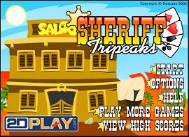 Sheriff Tripeaks Freeware Solitaire