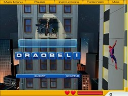 Scrabble Sprint Free >> Spiderman Flash Game - Spiderman 2 Web of Words