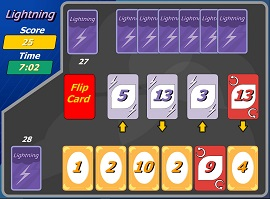 uno cards lightning game
