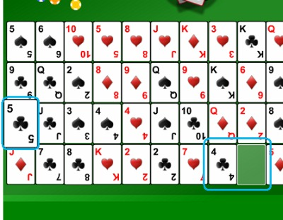 Gaps Solitaire Example