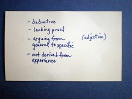 Index Card - Back