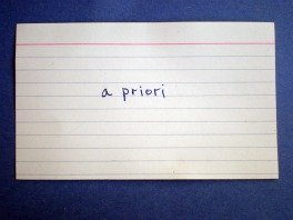 Index Card - Front
